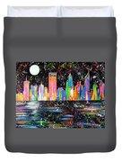 Perth Skyline Alla Pollock  Duvet Cover