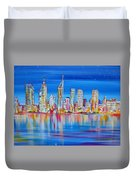 Perth Skyscrapers Skyline On The Swan River Duvet Cover