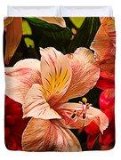 Peruvian Lily Grain Duvet Cover by Bill Tiepelman