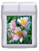 Peruvian Lily Of The Incas Duvet Cover