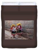 Peruvian Native Costumes  Duvet Cover
