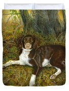 Pet Portrait - Springer Spaniel, Milly Duvet Cover