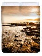 Petal Point Ocean Sunrise Duvet Cover