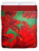 Petals Of Fire Duvet Cover