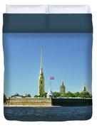 Peter And Paul Fortress. Saint Petersburg, Russia Duvet Cover