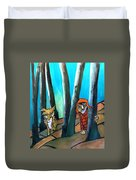 Peter And The Wolf Duvet Cover