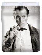 Peter Cushing As Sherlock Holmes Duvet Cover