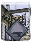 Peter Hay Kitchen Sign Duvet Cover