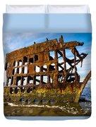 Peter Iredale Shipwreck - Oregon Coast Duvet Cover