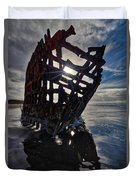Peter Iredale Shipwreck Duvet Cover
