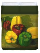 Peter Pifer Has A Lot Of Peppers To Choose From Duvet Cover