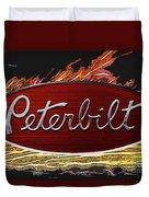 Peterbilt Emblem In Flames Duvet Cover