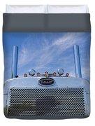 Peterbilt Semi Truck Emblem Duvet Cover