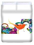 Petit Oiseau De Paradis Duvet Cover