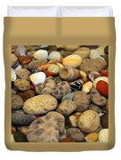 Petoskey Stones With Shells Ll Duvet Cover