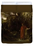 Petrarch By The Fountain Of Vaucluse Duvet Cover