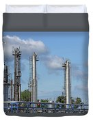 Petrochemical Plant Refinery Industry Zone Duvet Cover