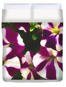 Petunias With A Flare Duvet Cover