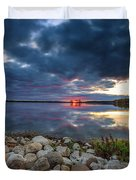 Pewaukee Lake Trail Duvet Cover