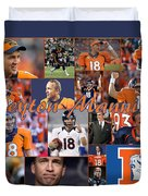 Peyton Manning Color Duvet Cover