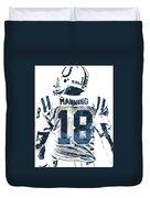 Peyton Manning Indianapolis Colts Pixel Art Duvet Cover
