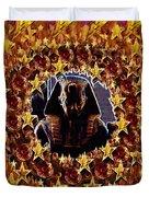 Pharaoh In The Starry Night Duvet Cover