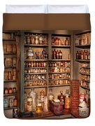 Pharmacy - Get Me That Bottle On The Second Shelf Duvet Cover by Mike Savad
