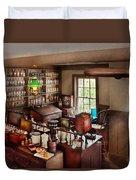 Pharmacy - Where I Make Medicine  Duvet Cover