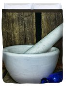 Pharmacy - Mortar And Pestle - Square Duvet Cover