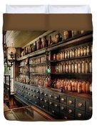 Pharmacy - So Many Drawers And Bottles Duvet Cover