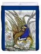 Pheasant Blue Duvet Cover