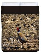 Pheasant On The Move Duvet Cover