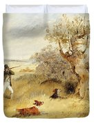 Pheasant Shooting Duvet Cover
