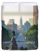 Philadelphia Benjamin Franklin Parkway Duvet Cover