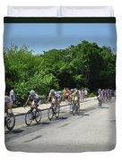 Philadelphia Bike Race - Manayunk Avenue Duvet Cover