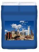 Philadelphia Blue Skies Duvet Cover by Bill Cannon