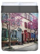 Philadelphia Blossoming In The Spring Duvet Cover