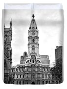 Philadelphia City Hall Building On Broad Street Duvet Cover