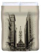 Philadelphia City Hall From South Broad Street Duvet Cover
