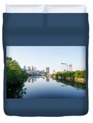 Philadelphia Cityscape Along The Schuylkill River Duvet Cover