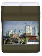 Philadelphia From Penns Landing Duvet Cover