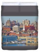 Philadelphia - From The Ben Franklin Bridge Duvet Cover