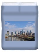 Philadelphia From The South Street Bridge Duvet Cover by Bill Cannon