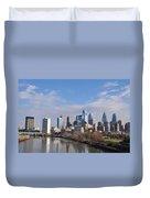 Philadelphia From The South Street Bridge Duvet Cover by Bill Cannon