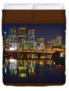 Philadelphia Pa River View Duvet Cover