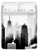 Philadelphia Skyline Graphic Work Duvet Cover