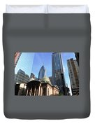 Philadelphia Street Level - Skyscrapers And Classical Building View Duvet Cover
