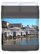 Philadelphia Waterworks And Art Museum Panorama Duvet Cover