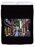 Philadelphia's Elfreth's Alley Duvet Cover
