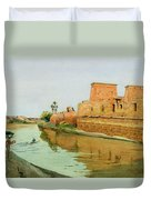 Philae On The Nile Duvet Cover by Alexander West
